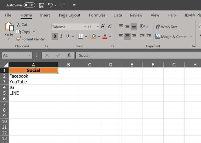 Drop-Down list Microsoft Excel