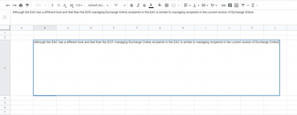 Wrap text ใน google sheet การตัดตัวอักษรให้อยู่ในเซลล์ที่เราต้องการ
