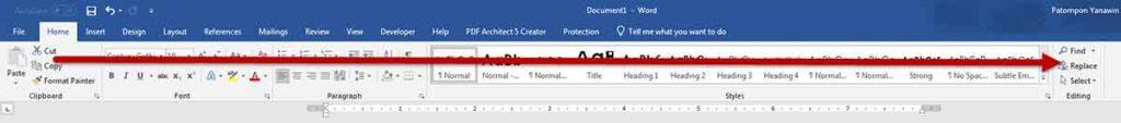 แก้ไขคำผิด ทั้งเอกสาร Microsoft Word 2016