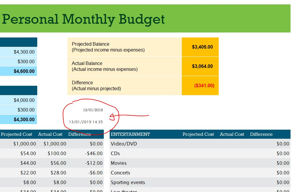 แทรกเวลา ใส่เวลาปัจจุบัน Excel โดยใช้สูตร