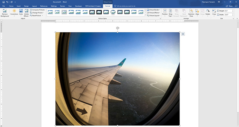 กลับด้านรูปภาพซ้าย ขวา บน ล่าง Word , PowerPoint