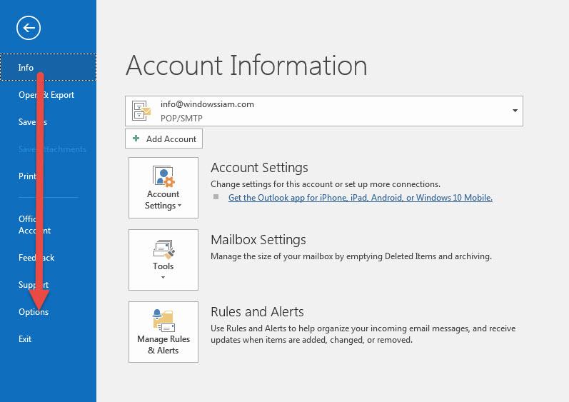 ปรับธีมสี Microsoft Outlook 2016 | 2013 หนีความจำเจ