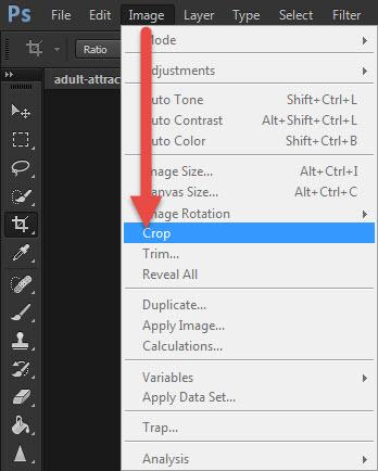 Photoshop ครอปรูปภาพ ( Crop Tool ) สอนการใช้งาน
