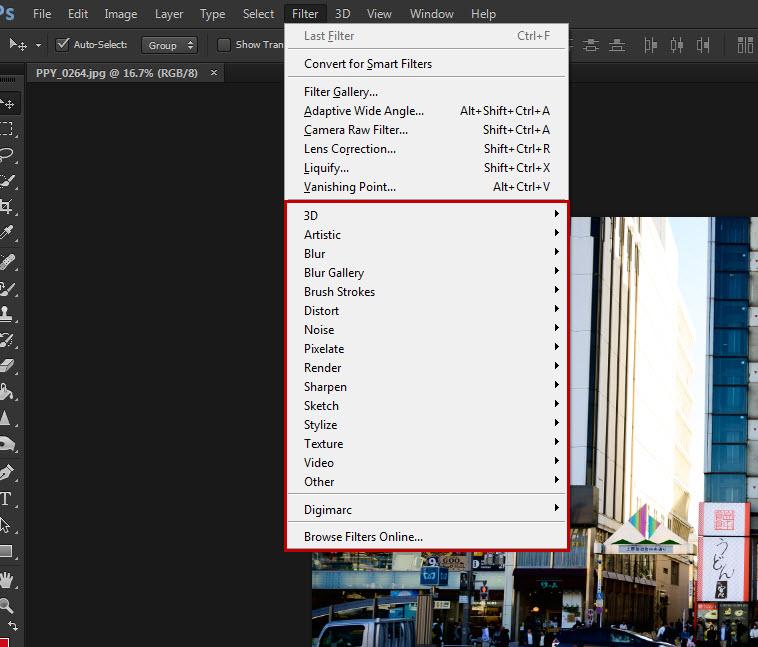 เปิดเมนู Filter ลับ Photoshop CC ที่ถูกซ่อนเอาไว้