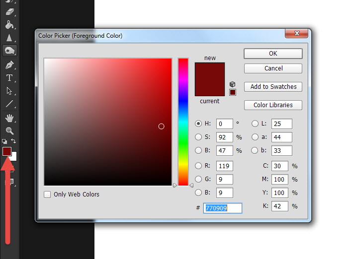 Photoshop CC เทถังสี ง่ายๆใช้ Paint Bucket Tool